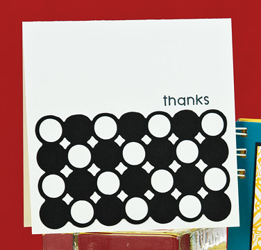 Circle Graphic Thanks Card by Kimberly Crawford
