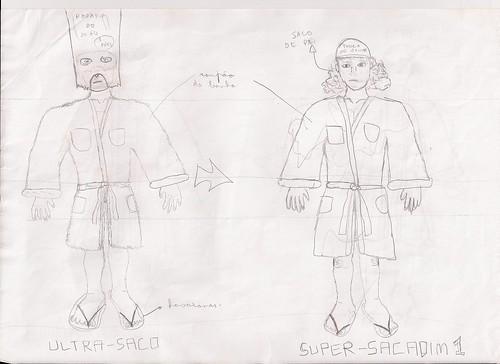 Ilustrações originais do Ultra-saco - (c) 2011 Izabelly Marques