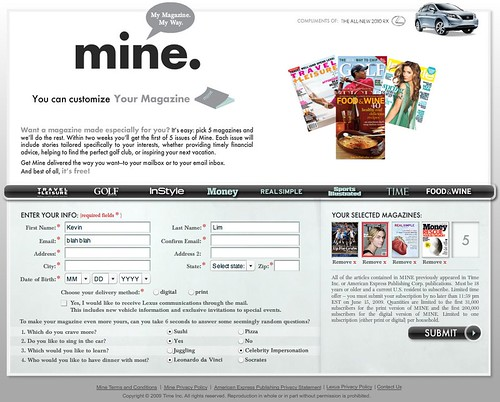 MINE: My Magazine. My Way.