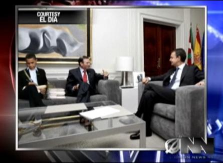 Obama con Zapatero e Ibarretxe