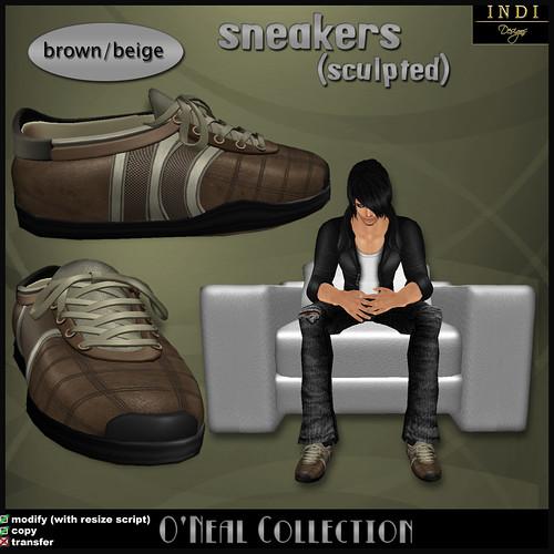 O'Neal sneakers brown/beige