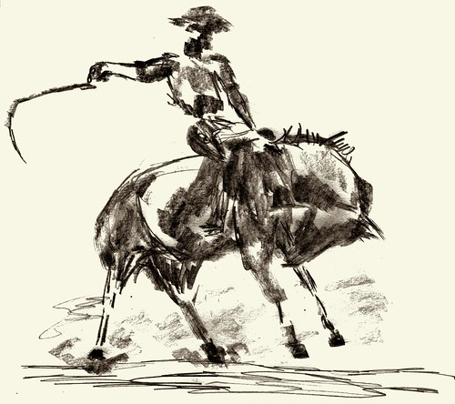 Rodeo horse sketch, part 2