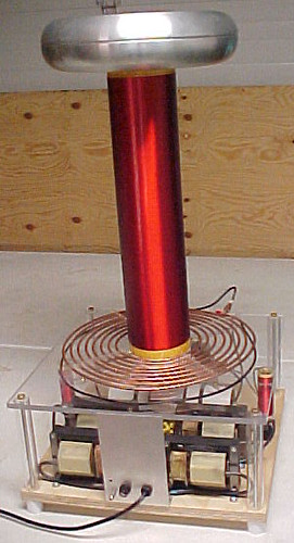 Tesla Coil Demonstrated (photo by Sharon Mels)
