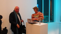 Grayson Perry signing his book