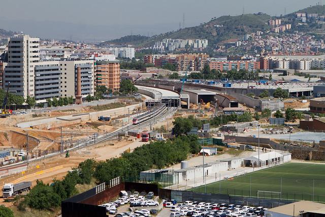 Detalle de los viales en el entorno de Riera d'Horta - Triangle Ferroviari - 25-05-11