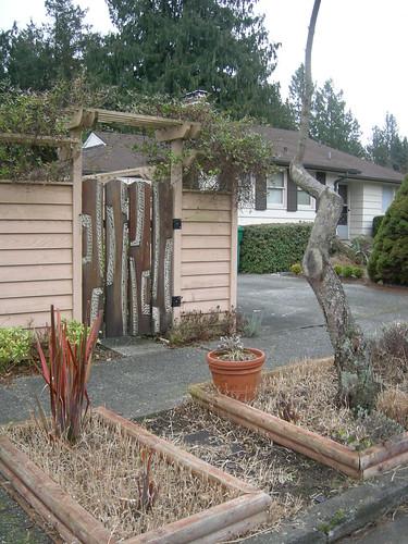 Funky front garden