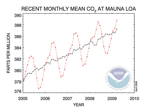 co2 on the rise