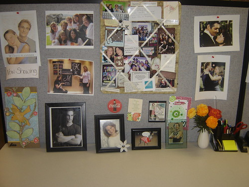 My favorite wall is this one. I, too, collect quotes, cards, pictures, etc.