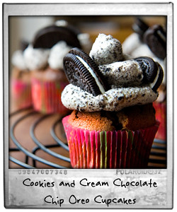 Cookies and Cream Chocolate Chip Oreo Cupcakes