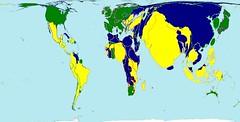 WorldMapper map on world press freedom