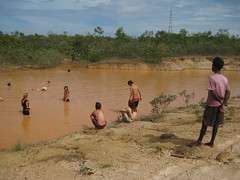 Every time we all went into the mud pool by Sadhana Forest, locals came to watch what the crazy white folks were up to