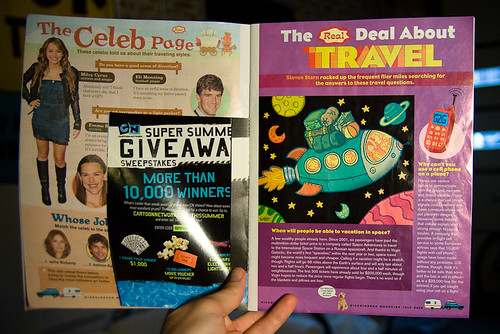 Space Vacations illustration in Nick Mag