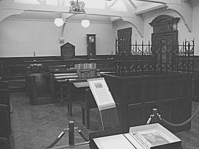 An 1895 Courtroom, originally from Denton Police Station