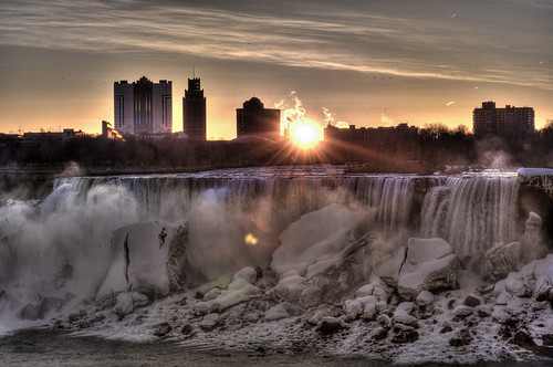 Niagara Falls at Sunrise