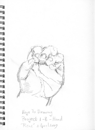 Keys To Drawing, Project 1-B - Hand, part 5
