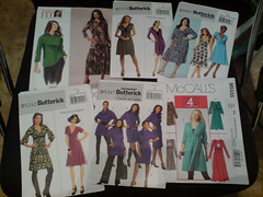 A bunch of McCalls, Butterick and Vogue patterns - all dresses