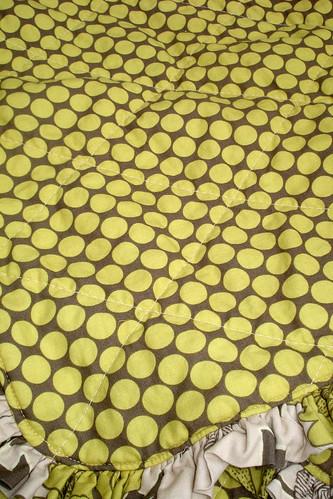 ruffle quilt wrinkled