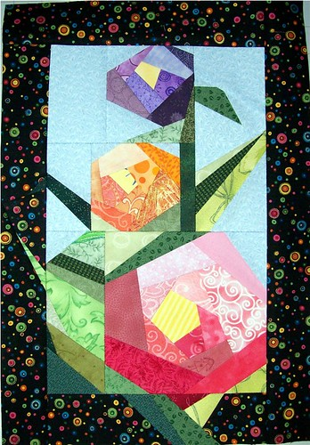 Spring Flowers by Sandi Walton at Piecemeal Quilts