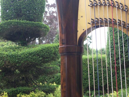 The harp enjoys a bit of topiary
