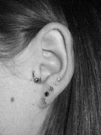 |Tragus piercing 97223|. |tragus scar tissue care ...