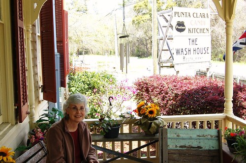 Mum at a candy kitchen outside Fairhope.
