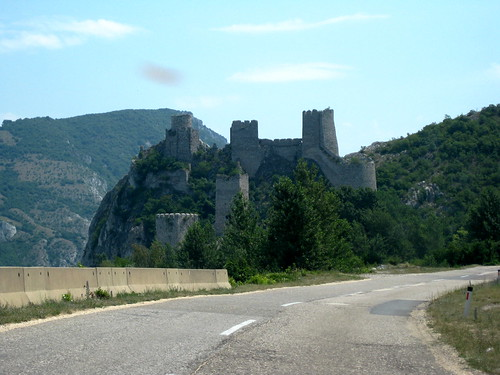 Approaching the Castle from the village of Golubac