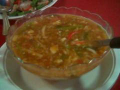 Ruby's hot and sour Szechuan soup