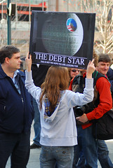 Debt Star Sign - Cincinnati Tea Party, March 1...