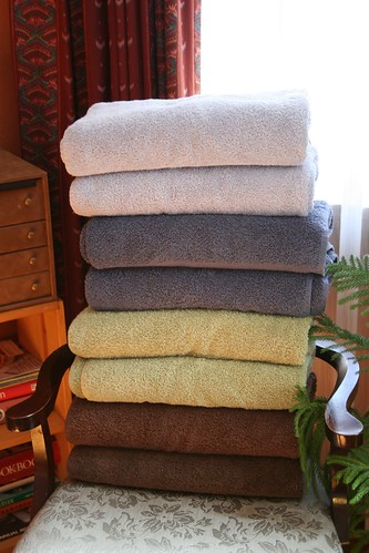Plush organic towels