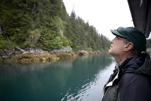 Dad looking at the trees, Yakutat Alaska