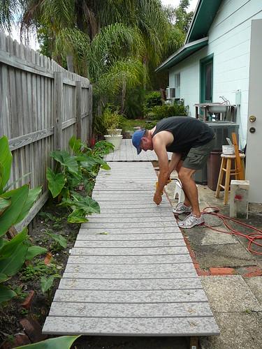 rebuilt deck and boardwalk
