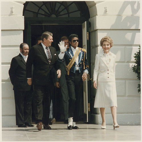 The Reagans and Michael Jackson at the White House Ceremony to Launch the Campaign Against Drunk Driving, 05/14/1984