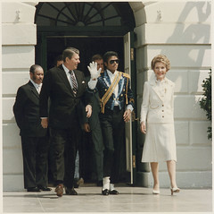 The Reagans and Michael Jackson at the White H...