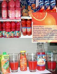 Aranciate e succhi con rosso allura