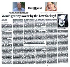 Would Granny Swear by the Law Society - The Herald June 5 2006