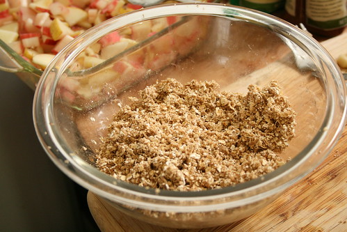 Rhubarb-Apple-Pear Crisp Topping