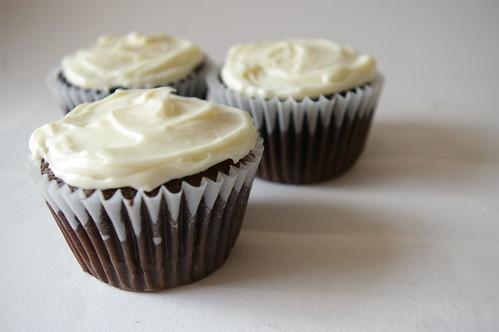Three whole cupcakes