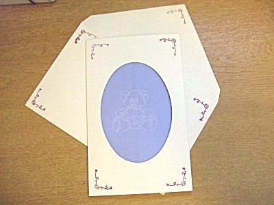 Card and envelope, with matching designs