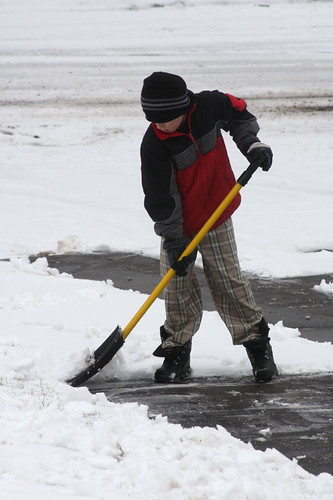 Snow Shoveling In The Spring