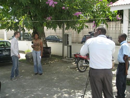 Hugh being interviewed 3