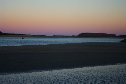 Windang Island at Sunset from Redall Parade, Lake Illawarra Foreshore