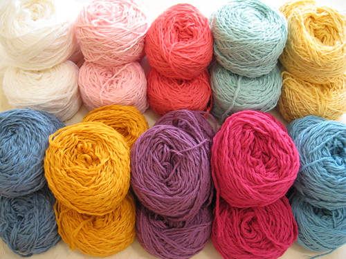 Blanket yarn from Yarn Barn by you.