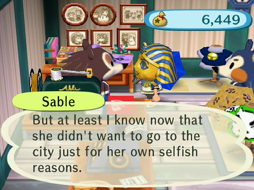 Oh no Sable, you should let her come visit!