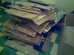 Boxes saying, Pack me!