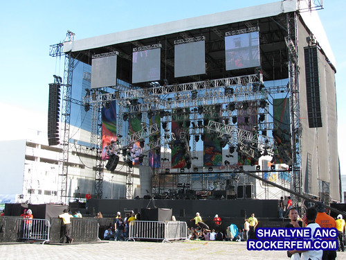 The stage (view from VIP section)