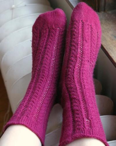 Finished Celebrations socks