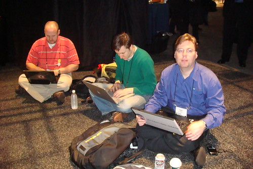 The eGeeks listening to the Hasso Plattner keynote at Sapphire 2009