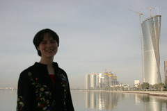 Jessica in Doha, Qatar<br /> photo: copyright 2009 Jessica Dickinson Goodman, CMU-Q Spring Break