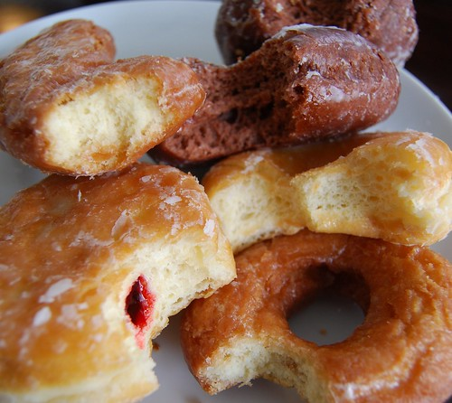 A tasting plate of donuts