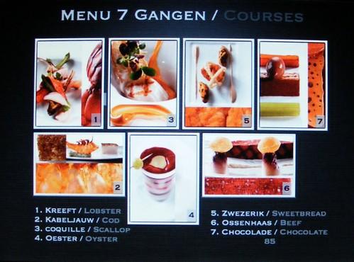 Digitale menukaart bij Restaurant Ivy